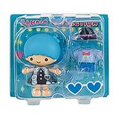 Sanrio 換裝娃娃組 擺飾玩偶 公仔 雙子星 KIKI 愛心眼鏡 藍