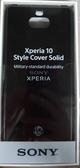 【原廠盒裝】SONY Xperia 10 保護背蓋 (SCBI10) 黑色現貨