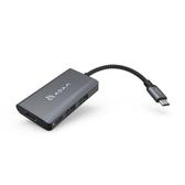 簡約俐落【ADAM 亞果元素】 Hub A01m USB 3.1 USB-C 4 port 4K顯示轉接器灰