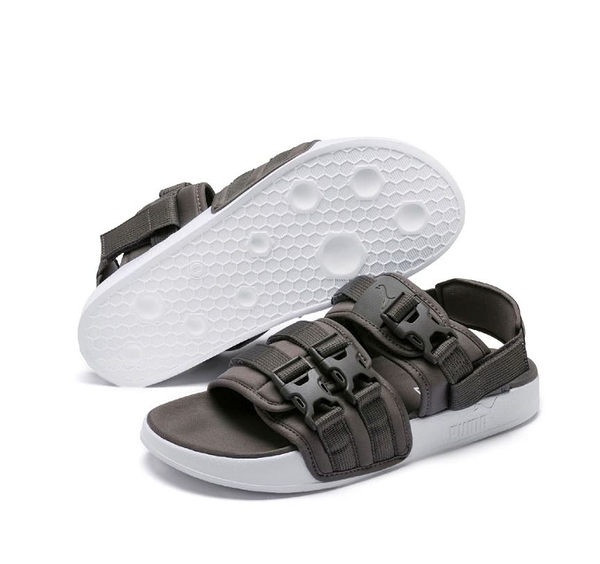 PUMA 灰色男女款輕便涼拖鞋-NO.36940702