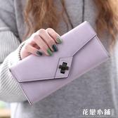 手拿包 錢夾大容量多功能學生簡約純色潮個性女ins長款錢包