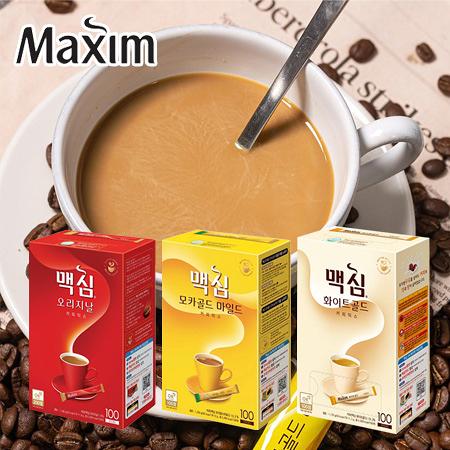 韓國 Maxim 咖啡 100入 手提盒裝 三合一咖啡 即溶咖啡 白金 摩卡 沖泡飲品 咖啡包 隨身包 禮盒