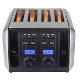 B129不銹鋼多士爐烤面包片機4片裝家用吐司機四口早餐機 電購3C