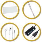 Buy3c 筆電四寶(內含通用型鍵盤保護膜、多用途噴霧筆、精美純白耳機、簡易USB HUB)