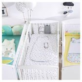 嬰兒純棉床圍小床圍欄防撞夏季透氣四季通用  WD 聖誕節歡樂購