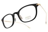 EYEVAN 7285 光學眼鏡 EV415 1002 (黑-金) 百搭經典款 #金橘眼鏡