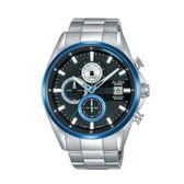 ALBA雅柏 新上市三眼計時碼錶VD57-X136D(AM3599X1) 黑X藍框