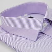【金‧安德森】粉紫條紋變化領窄版短袖襯衫