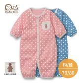 連身衣 寶寶兔裝 DL純棉毛款水玉點點女寶寶連身衣 新生兒服 (70-80碼) 紗布衣【GD0123】