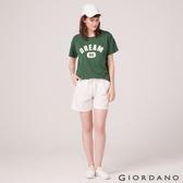 【GIORDANO】女裝棉麻抽繩休閒短褲- 01 標誌白
