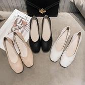 奶奶鞋女粗跟單鞋仙女溫柔中跟高跟鞋年鞋子新款夏季女鞋 格蘭小鋪