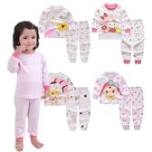 女寶寶長袖套裝 粉色家居服 長袖上衣+收口長褲 棉質睡衣 HY10608 好娃娃