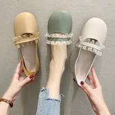 娃娃鞋 軟底女秋新款圓頭可愛大頭平底奶奶鞋一腳蹬單鞋 - 雙十二交換禮物