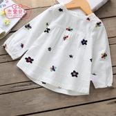 女童襯衫長袖1-3歲兒童上衣春秋娃娃衫薄嬰兒襯衣純棉5寶寶秋裝女Mandyc