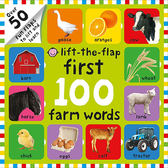 Lift-The-Flap First 100 Farm Words 100個農場單字  硬頁翻翻操作書(美國版)