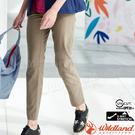 Wildland荒野 0A81301-82卡其 女日本紗彈性抗UV長褲 防曬排汗褲/輕薄上班褲/透氣運動褲/休閒褲