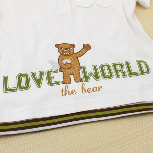 【愛的世界】純棉圓領熊出沒短袖上衣/3~8歲-台灣製- ★春夏上著 夏出清