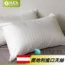 枕頭【YUDA】高枕《二入》柔思 天絲枕 50/50 枕心/枕頭/高級枕/人體工學枕 台灣製造