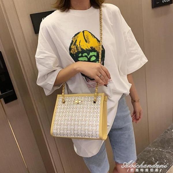 包包女新款潮韓版百搭休閒錬條斜背包時尚呢子側背子母包 黛尼時尚精品