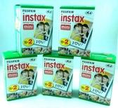 富士 Fujifilm instax mini 拍立得底片 白框底片 空白 相紙 5盒( 100張) 量販組合 免運