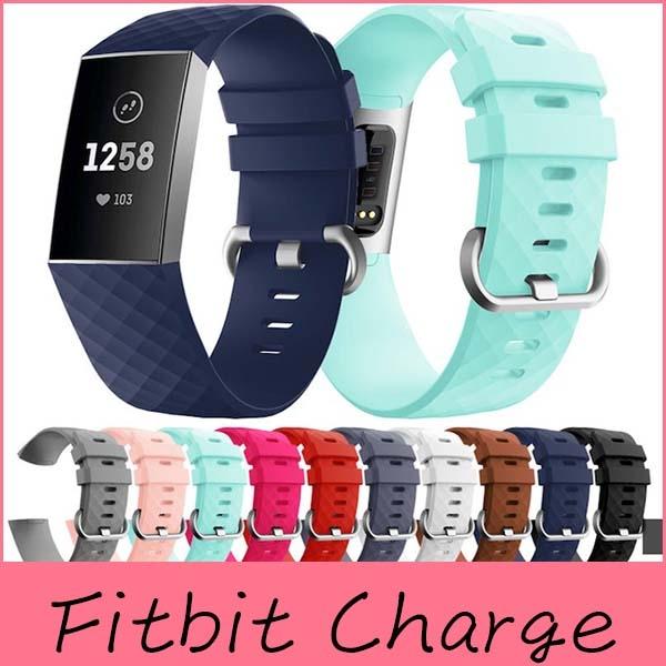 【萌萌噠】Fitbit charge3 潮流智能運動手錶腕帶 菱形紋路 鑽石紋 替換腕帶配件 男女款 大小號