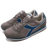 DIADORA 復古慢跑鞋 K Run 灰 藍 基本款 經典款 全真皮鞋面 運動鞋 男鞋【PUMP306】 DA159863C5894