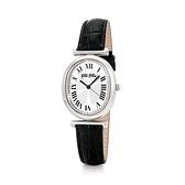 【Folli Follie】METAL CHIC城市時間羅馬橢圓時尚腕錶-經典黑/WF18T029SPS_BK/台灣總代理享兩年保固