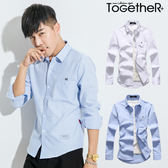ToGetheR+【50231】韓風優雅素面設計長袖襯衫(二色)