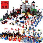 積木玩具啟蒙城堡系列軍事拼裝積木益智兒童玩具6-8歲以上男孩BL 【好康八八折】