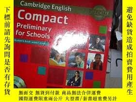 二手書博民逛書店Cambridge罕見English Compact Preliminary for Schools 劍橋英語契約