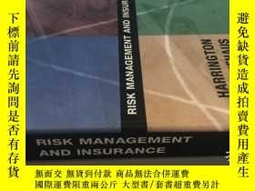 二手書博民逛書店RISK罕見MANAGEMENT AND INSURANCE 風