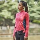 ADISI 女半門襟抗靜電紗長袖上衣AL2021064 (S-2XL) / 城市綠洲 (透氣保暖 排汗速乾 機能服)
