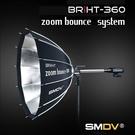 【EC數位】SMDV Zoom Bounce 100 PARA 可變焦 BRiHT360專用 反射傘 快收雷達罩