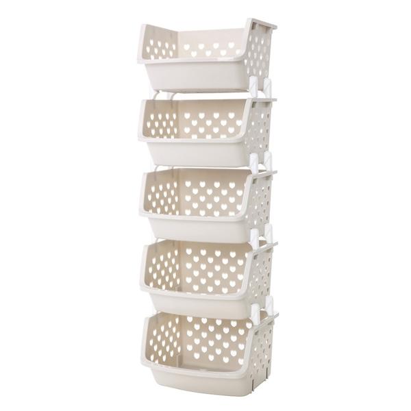 斜口收納籃 卡扣疊加 收納架 置物架 收納盒 收納籃 收納櫃 層架 收納 浴室 居家生活