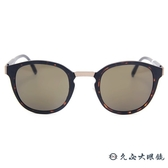 MONTBLANC 萬寶龍眼鏡 MB590SF 52E (霧琥珀) 休閒圓框 太陽眼鏡 蔡司鏡片 久必大眼鏡