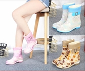 秋冬季雨鞋女中筒防滑防水膠鞋加絨保暖短筒水靴雨靴時尚水鞋套鞋  夏季新品