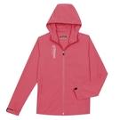 KAPPA義大利 吸溼排汗女款單層外套胭脂紅 淺桃粉 3117ZXW705