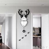 掛鐘北歐客廳個性創意時尚靜音鐘表現代簡約藝術潮流家用大氣時鐘 NMS蘿莉小腳丫