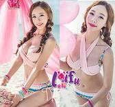 來福,C127淡淡清雅民俗變化二件式泳衣游泳衣泳裝比基尼,售價690元