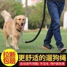 中型大型犬狗狗金毛拉布拉多遛狗繩子項圈狗鏈子P鏈牽引繩帶用品 降價兩天