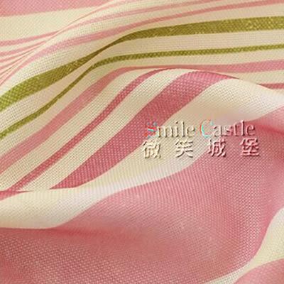 織夢園-彩條【量身訂製】棉麻窗簾【穿管窗簾】寬160X高120cm以內[高度可指定](下殺底價)微笑城堡