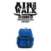 美國AIRWALK BOXER 尼龍防水綁帶大後背包-藍