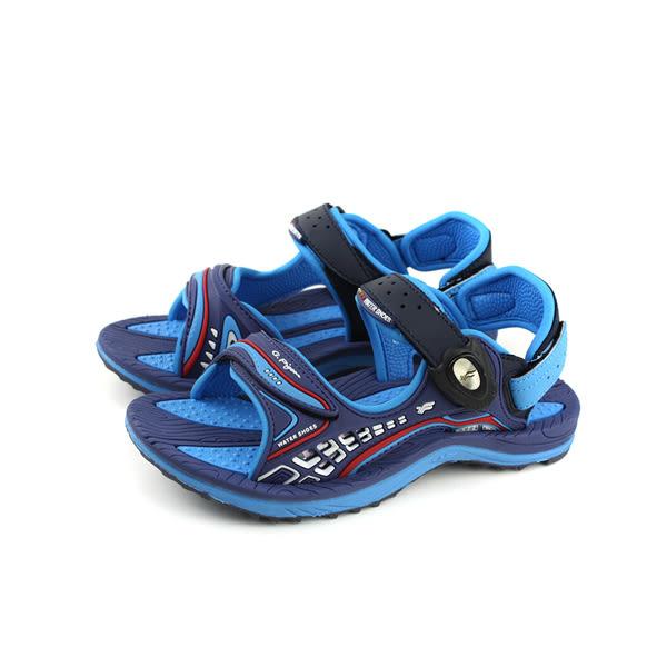 GP(Gold.Pigon) 涼鞋 防水 雨天 藍色 大童 童鞋 G8675B-23 no936