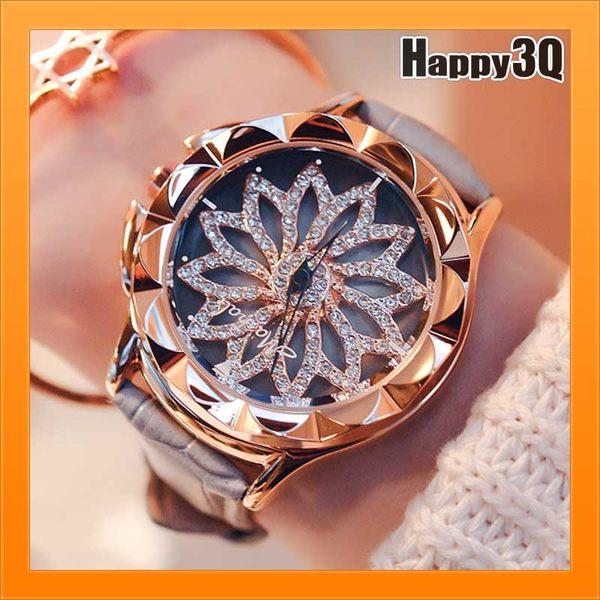 手錶石英錶時來運轉奧地利水鑽錶百搭氣質個性旋轉錶盤-黑/灰/粉/紅/白【AAA2550】預購