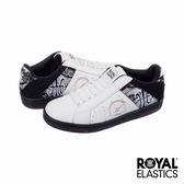 Royal Elastics Icon 經典運動-白x黑x低調蛇紋