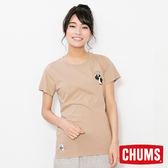CHUMS 日本 女 LIKE 短袖T恤 卡其 CH111233B023
