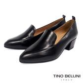 Tino Bellini西班牙進口斯文質感樂福粗跟鞋_黑 TF8537 歐洲進口款