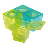 英國 Brother Max 副食品防漏保鮮分裝盒/冰磚盒(大號4盒裝)