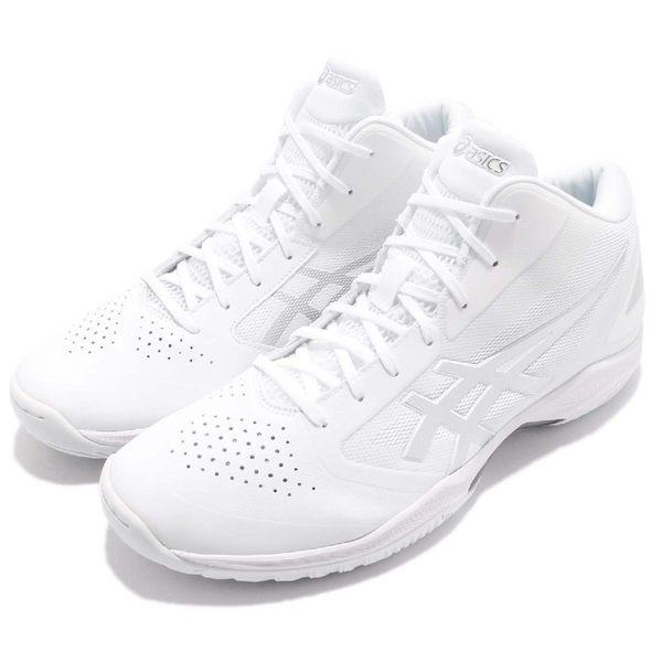 【六折特賣】Asics 籃球鞋 Gelhoop V 10 wide 白 銀 寬楦 高筒 男鞋 【PUMP306】 TBF3400193