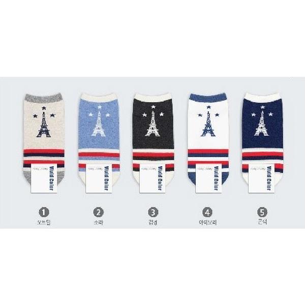 韓國巴黎鐵塔造型段襪-多款任選 (SOCK-033-WS)